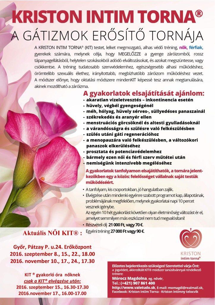 KIT Győr, Erőközpont 2016. szept. és nov. és gyakorló órák